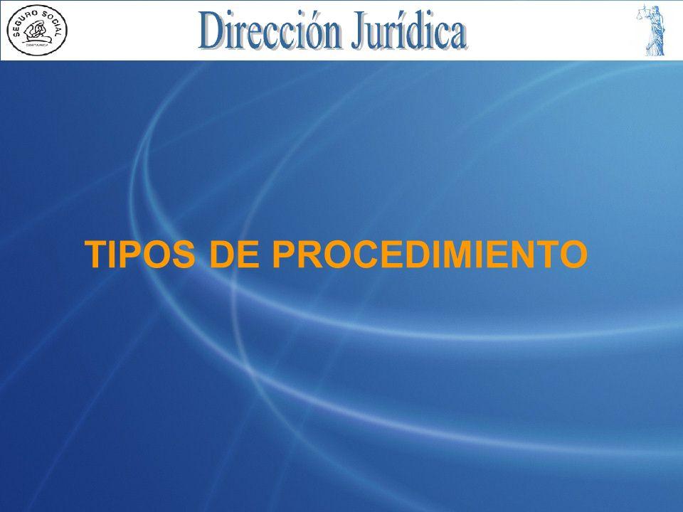 TIPOS DE PROCEDIMIENTO