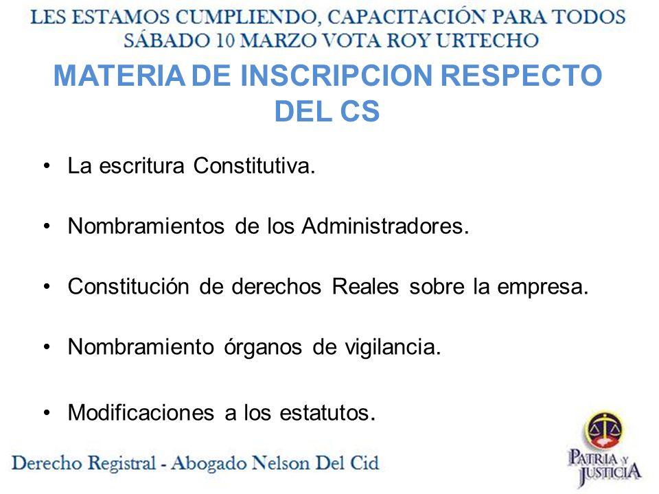 La escritura Constitutiva.Nombramientos de los Administradores.