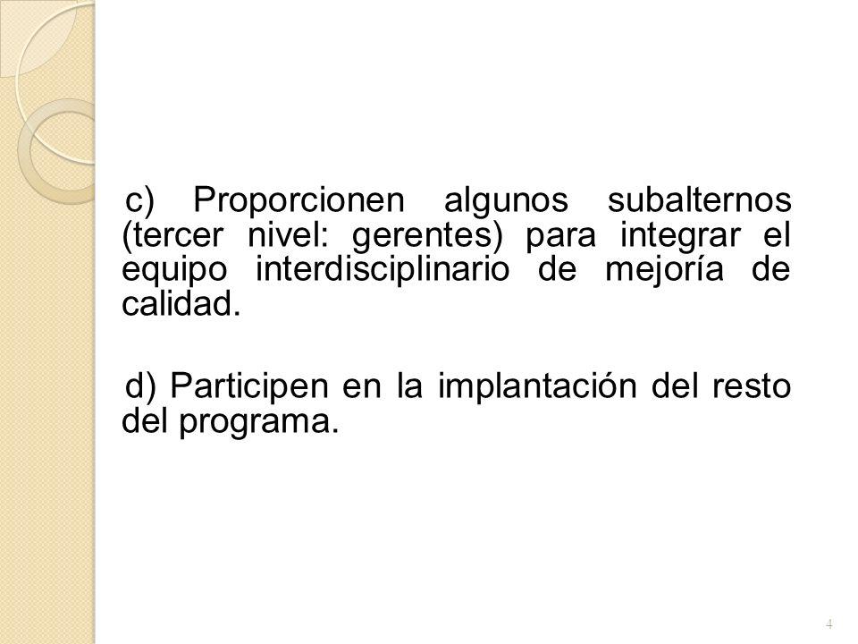 Paso 3: Medición En este paso deben definirse medidores concretos de la calidad; primero a nivel corporativo, después por áreas y, finalmente, medidores departamentales.
