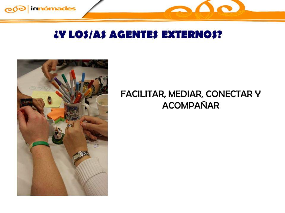 FACILITAR, MEDIAR, CONECTAR Y ACOMPAÑAR ¿Y LOS/AS AGENTES EXTERNOS?