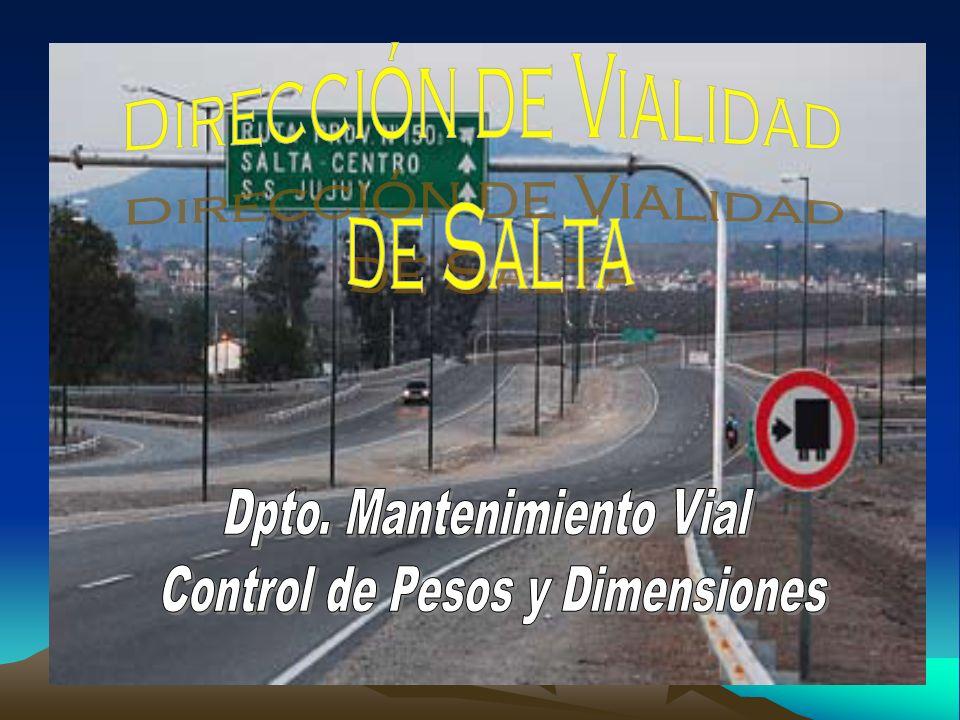 La Dirección de Vialidad de Salta informa que se encuentran realizando, como todos los años, los controles de pesos y dimensiones, en la modalidad de Operativo Móvil en toda la Provincia de Salta