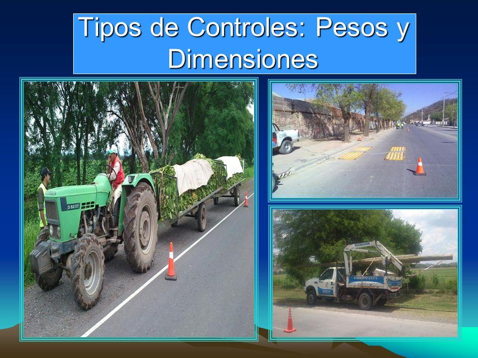 Tipos de Controles: Pesos y Dimensiones Tipos de Controles: Pesos y Dimensiones