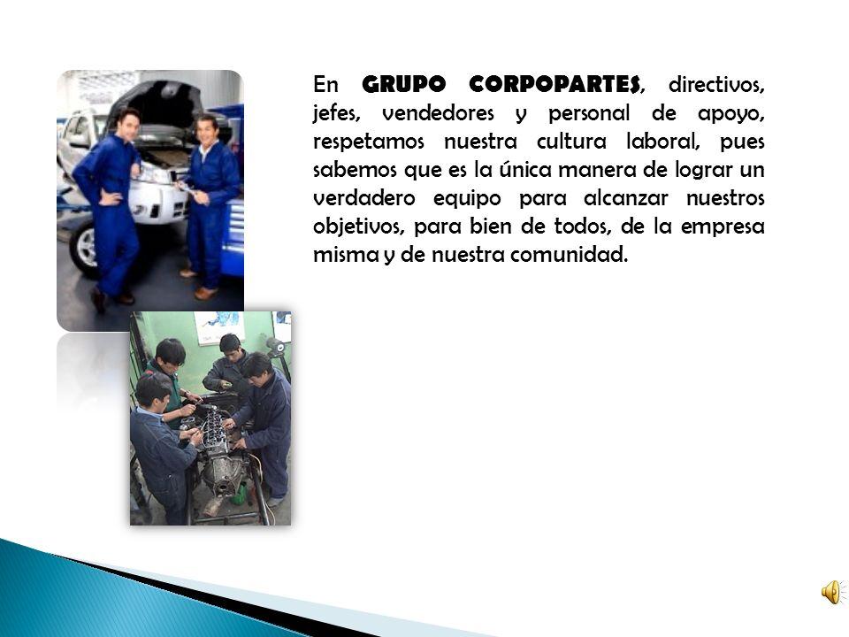 GRUPO CORPOPARTES es una organización con una experiencia de más de veinte años en el ramo automotriz, cuya principal actividad es la compra venta de