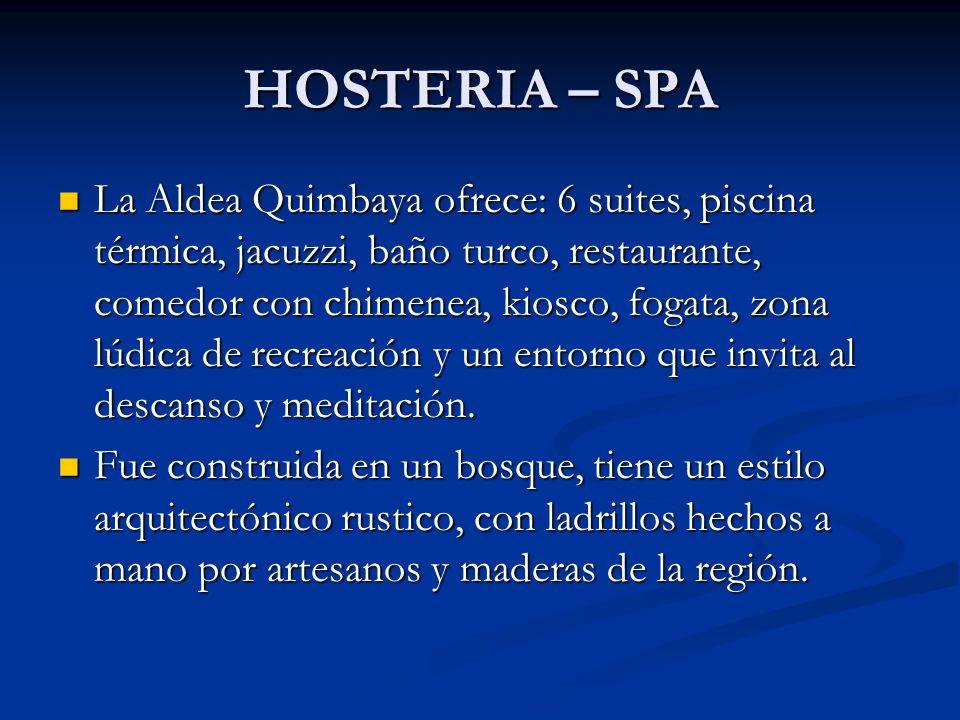 HOSTERIA – SPA La Aldea Quimbaya ofrece: 6 suites, piscina térmica, jacuzzi, baño turco, restaurante, comedor con chimenea, kiosco, fogata, zona lúdic