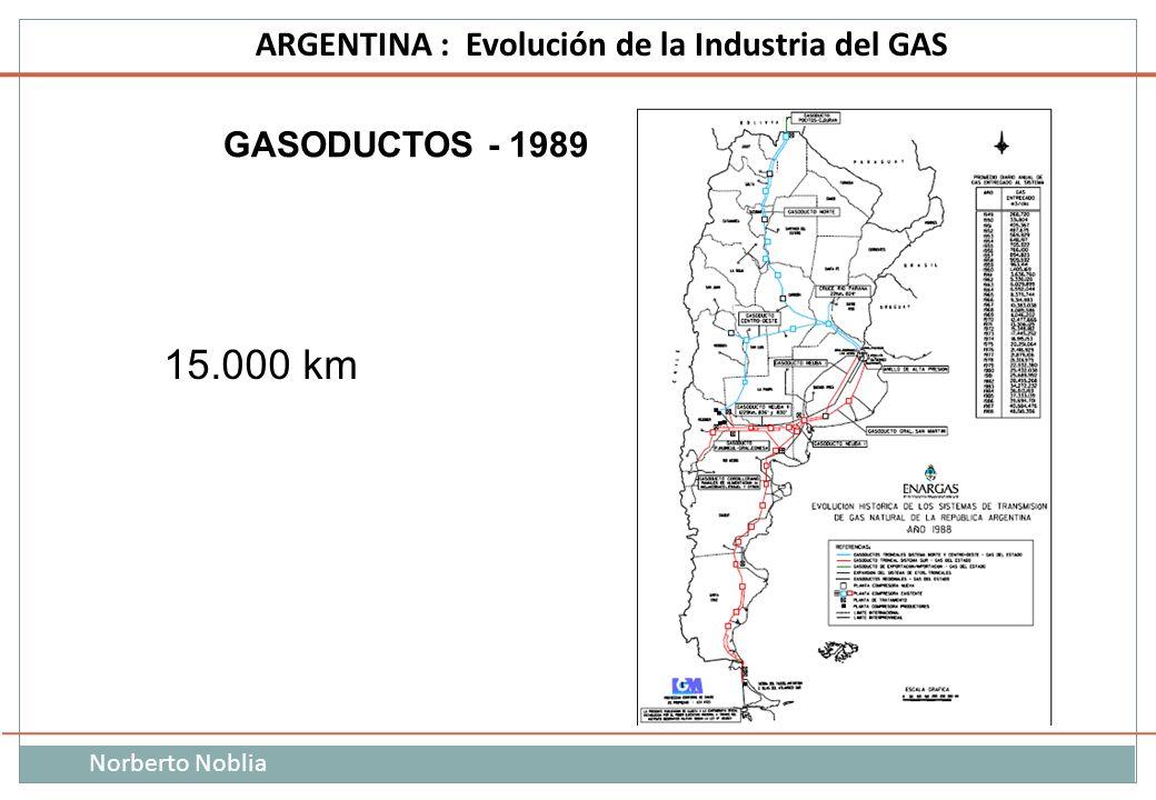 Norberto Noblia ARGENTINA : Evolución de la Industria del GAS 15.000 km GASODUCTOS - 1989