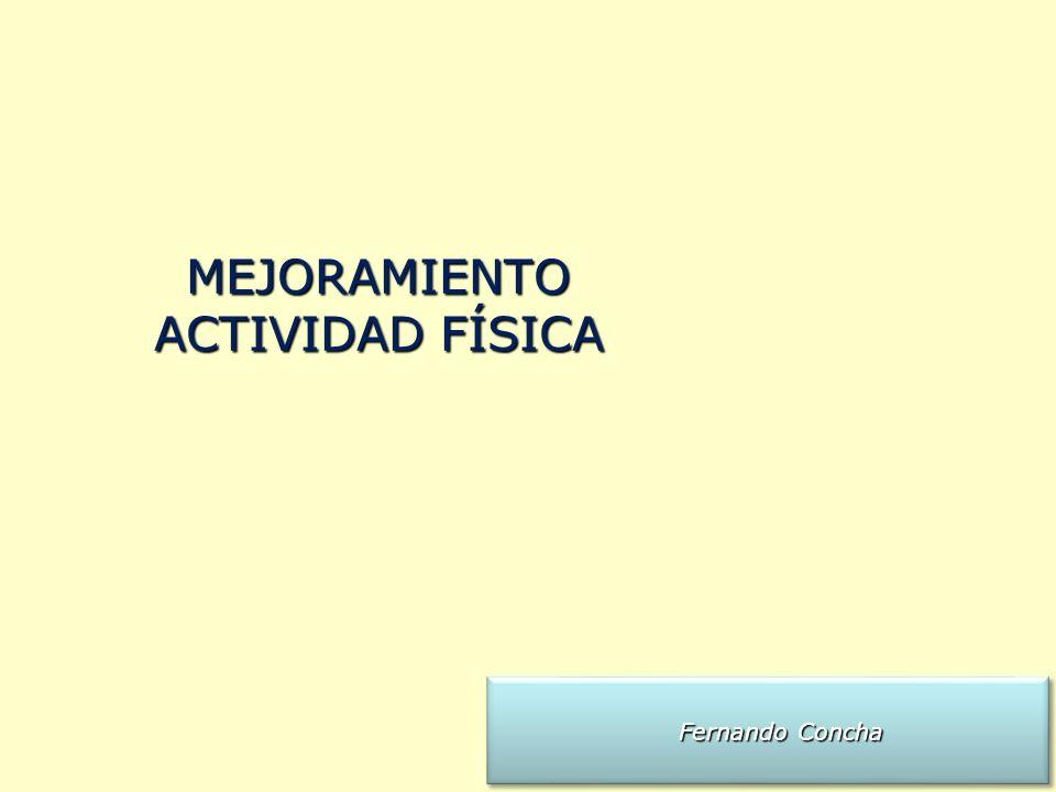 Fernando Concha Fernando Concha MEJORAMIENTO ACTIVIDAD FÍSICA