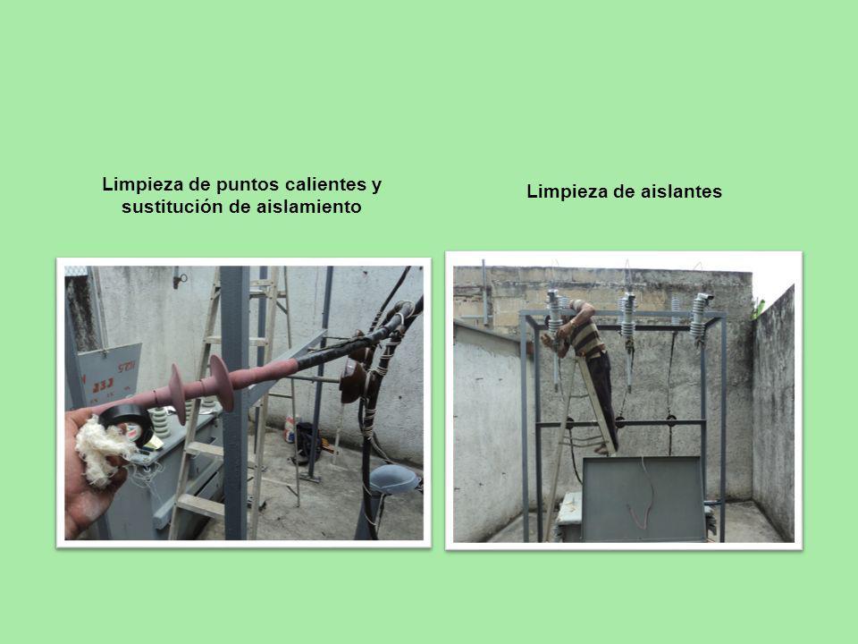 Limpieza de puntos calientes y sustitución de aislamiento Limpieza de aislantes