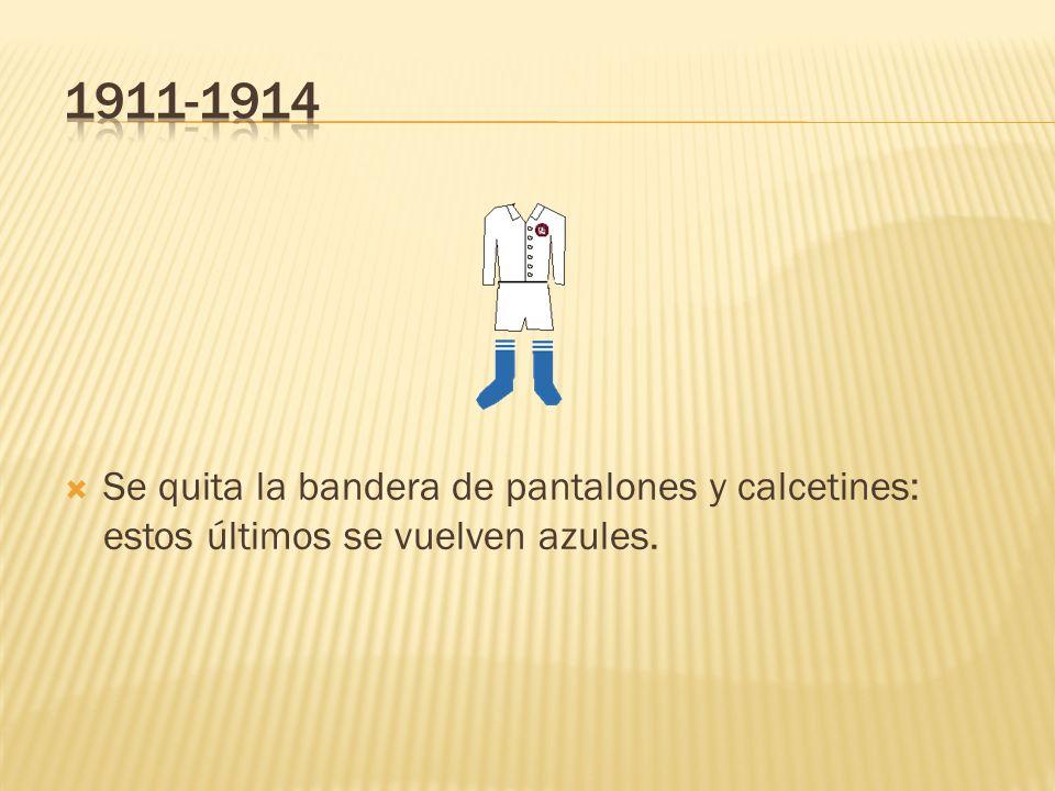 Cambio de escudo en la camisa: la ley de entonces obligaba a utilizar en partidos oficiales el escudo de la villa de Madrid.