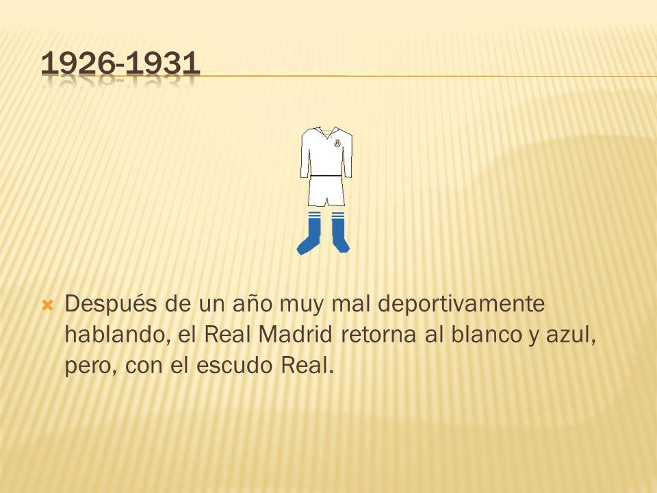 Después de un año muy mal deportivamente hablando, el Real Madrid retorna al blanco y azul, pero, con el escudo Real.