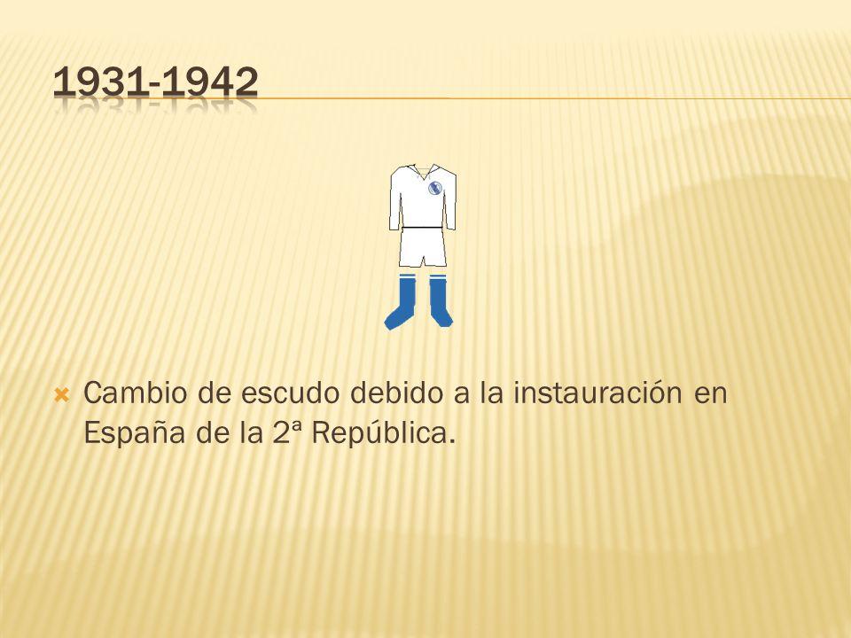 Cambio de escudo debido a la instauración en España de la 2ª República.