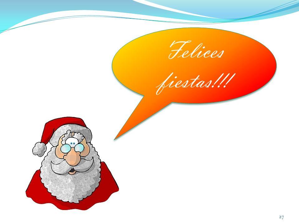 27 Felices fiestas!!!