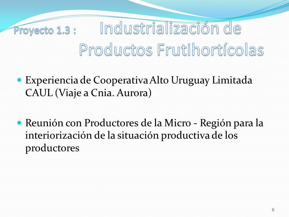 Experiencia de Cooperativa Alto Uruguay Limitada CAUL (Viaje a Cnia.