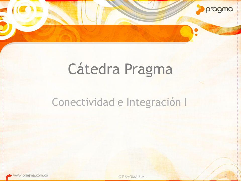 Cátedra Pragma Conectividad e Integración I 2 © PRAGMA S.A.