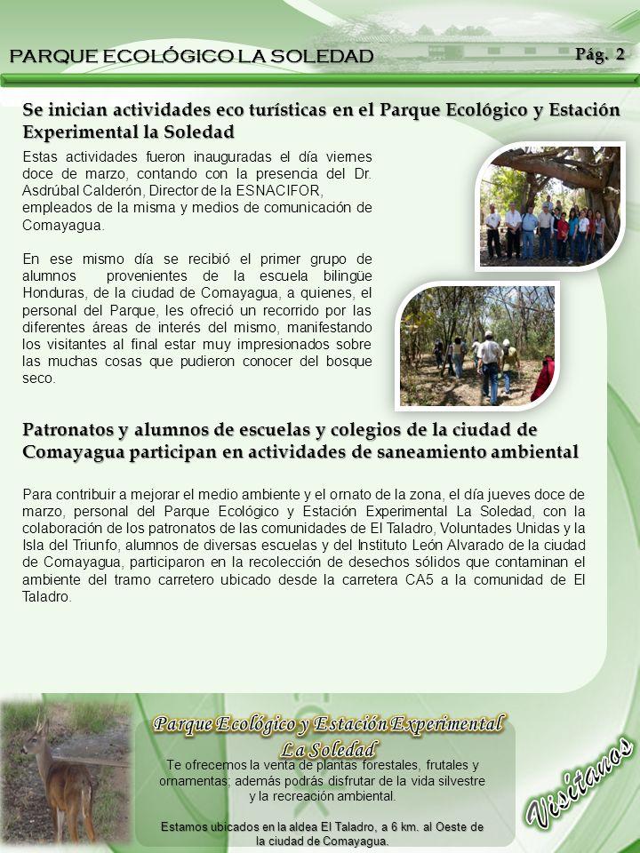 Estas actividades fueron inauguradas el día viernes doce de marzo, contando con la presencia del Dr. Asdrúbal Calderón, Director de la ESNACIFOR, empl