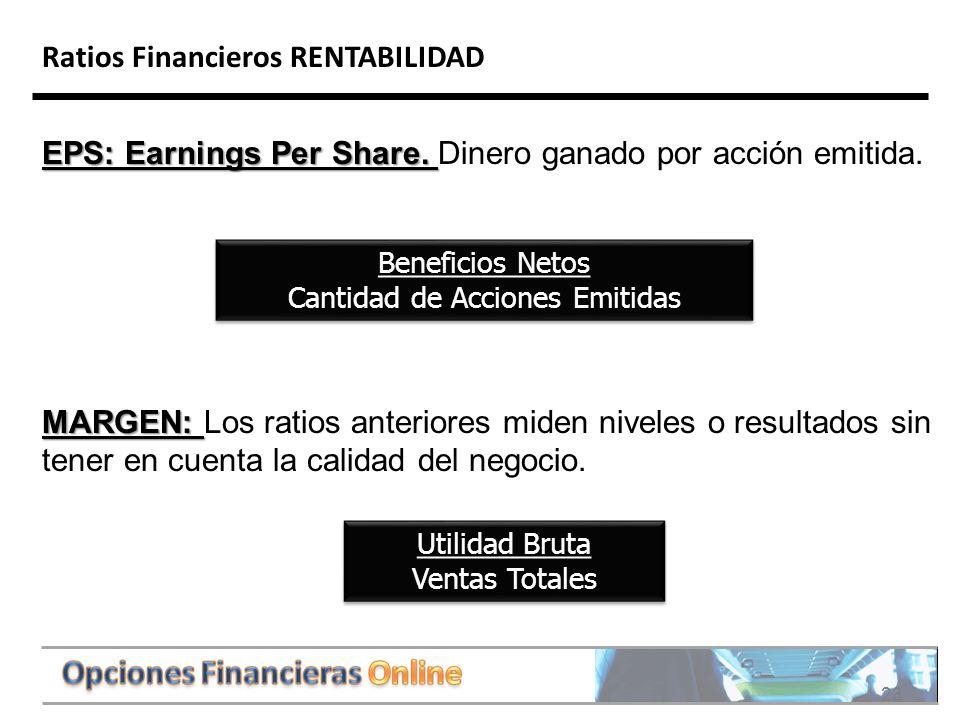 23 Ratios Financieros RENTABILIDAD EPS: Earnings Per Share.