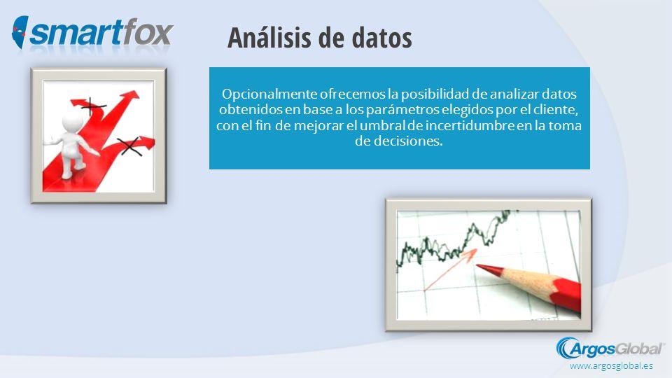Análisis de datos Opcionalmente ofrecemos la posibilidad de analizar datos obtenidos en base a los parámetros elegidos por el cliente, con el fin de mejorar el umbral de incertidumbre en la toma de decisiones.