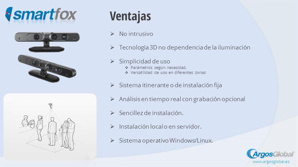 Ventajas No intrusivo Tecnología 3D no dependencia de la iluminación Simplicidad de uso Parámetros según necesidad.