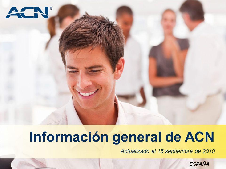 AVISO IMPORTANTE Si no se adquieren clientes, ACN no ofrece retribución alguna.