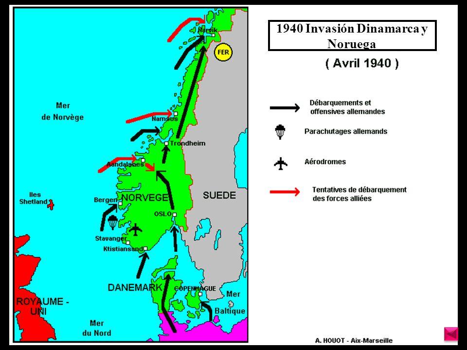 1940 Invasión Dinamarca y Noruega