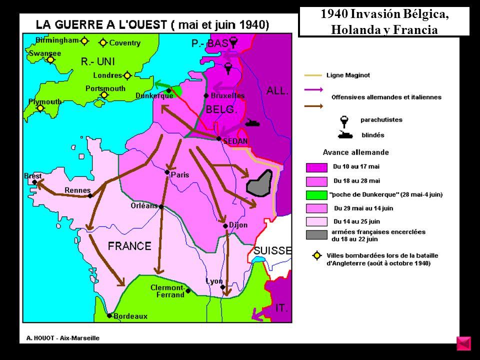 1940 Invasión Bélgica, Holanda y Francia