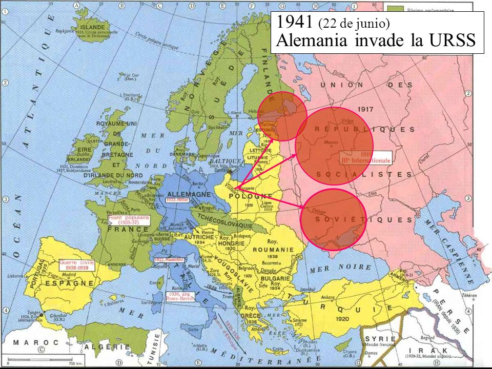 1941 (22 de junio) Alemania invade la URSS