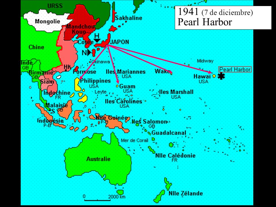 1941 (7 de diciembre) Pearl Harbor
