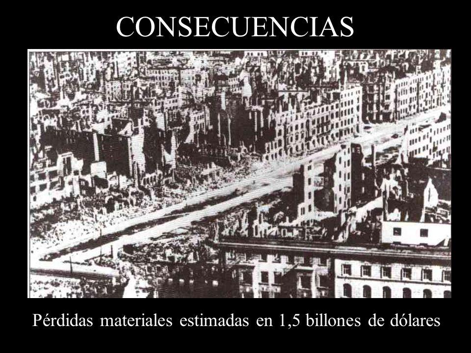 CONSECUENCIAS Pérdidas materiales estimadas en 1,5 billones de dólares