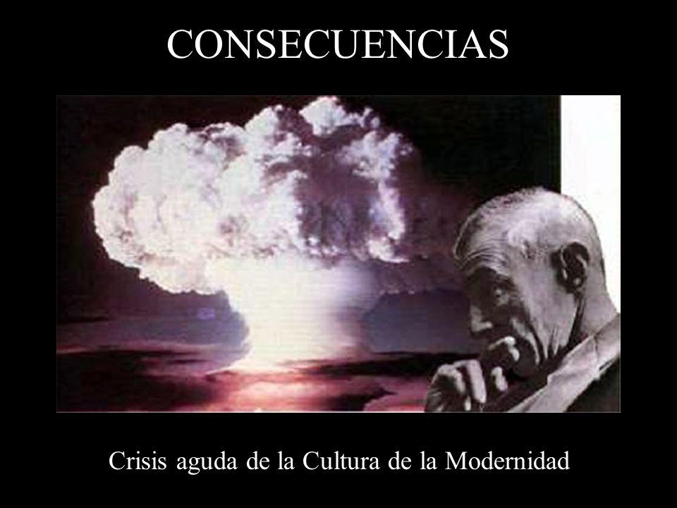 CONSECUENCIAS Crisis aguda de la Cultura de la Modernidad