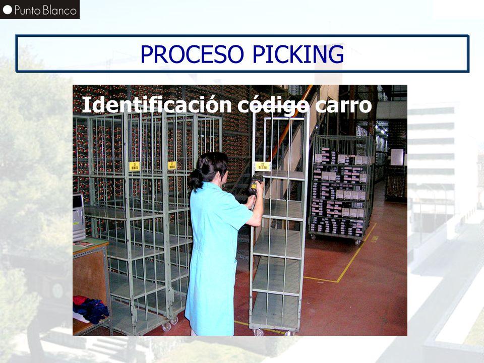 PROCESO PICKING Identificación código carro