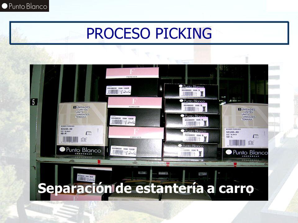 Enero06 PROCESO PICKING Separación de estantería a carro