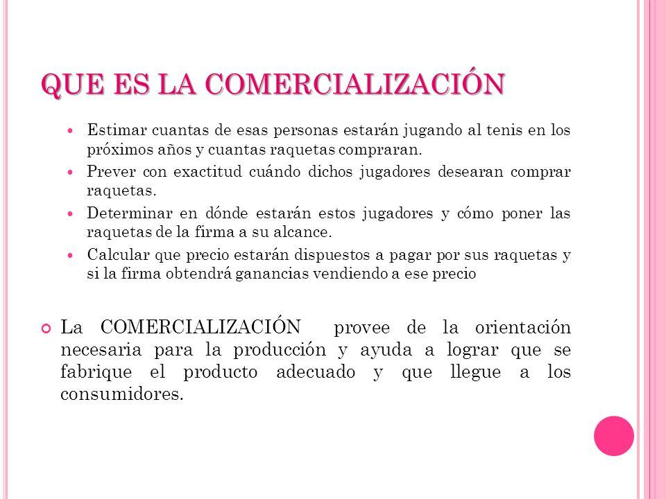 P ARA ESTABLECER ESTRATEGIAS DE COMERCIALIZACIÓN SE DEBE : A CONOCER EL MERCADO Y LA COMPETENCIA A CONOCER EL MERCADO Y LA COMPETENCIA CARACTERÍSTICAS DEL MERCADO: Potencial, segmentos, demanda, tendencias.