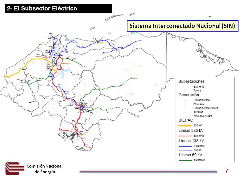 Comisión Nacional de Energía 7 2- El Subsector Eléctrico Sistema Interconectado Nacional (SIN)