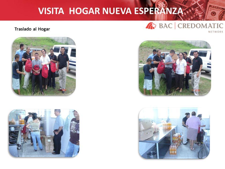 VISITA HOGAR NUEVA ESPERANZA Traslado al Hogar