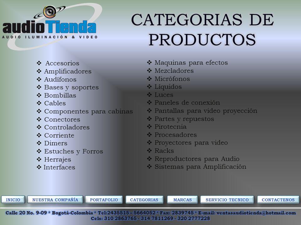 Venta Instalación Servicio Técnico Especializado PORTAFOLIO CATEGORIAS MARCAS NUESTRA COMPAÑÍA SERVICIO TECNICO CONTACTENOS INICIO