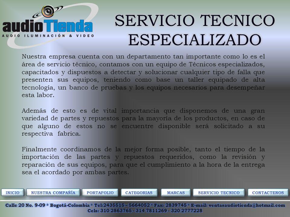 PORTAFOLIO CATEGORIAS MARCAS NUESTRA COMPAÑÍA SERVICIO TECNICO CONTACTENOS INICIO