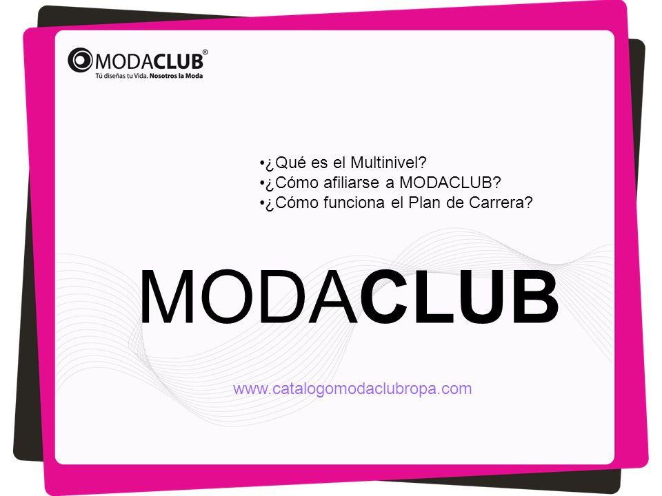 MODACLUB ¿Qué es el Multinivel? ¿Cómo afiliarse a MODACLUB? ¿Cómo funciona el Plan de Carrera? www.catalogomodaclubropa.com