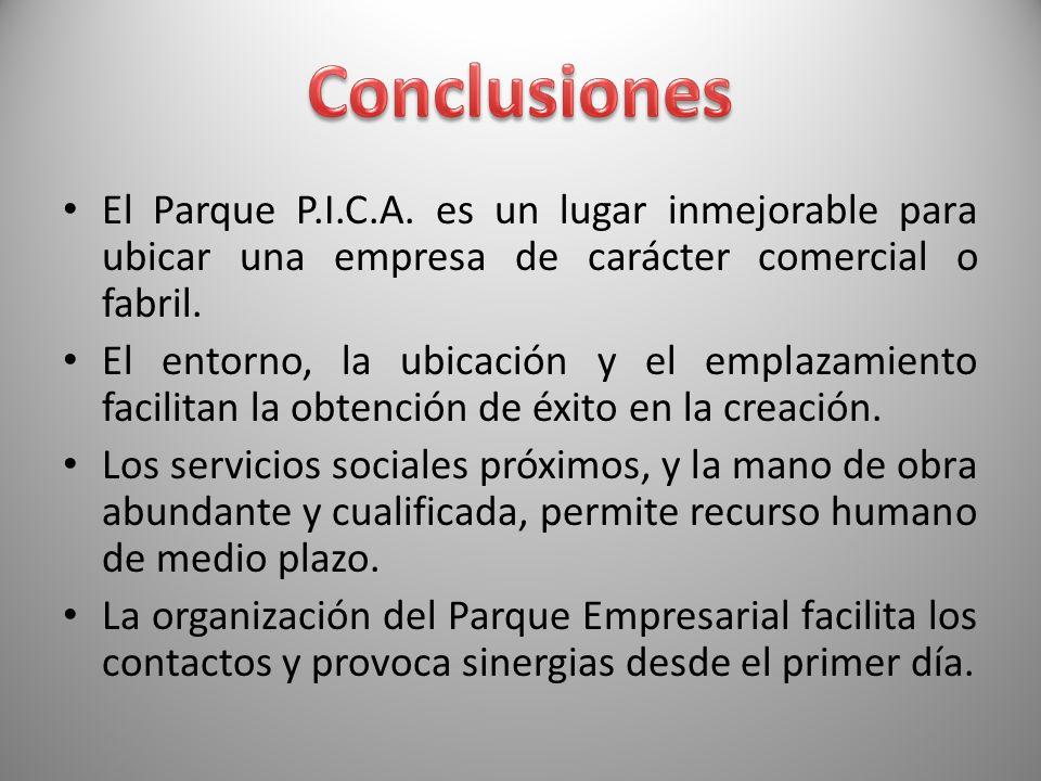 El Parque P.I.C.A. es un lugar inmejorable para ubicar una empresa de carácter comercial o fabril. El entorno, la ubicación y el emplazamiento facilit