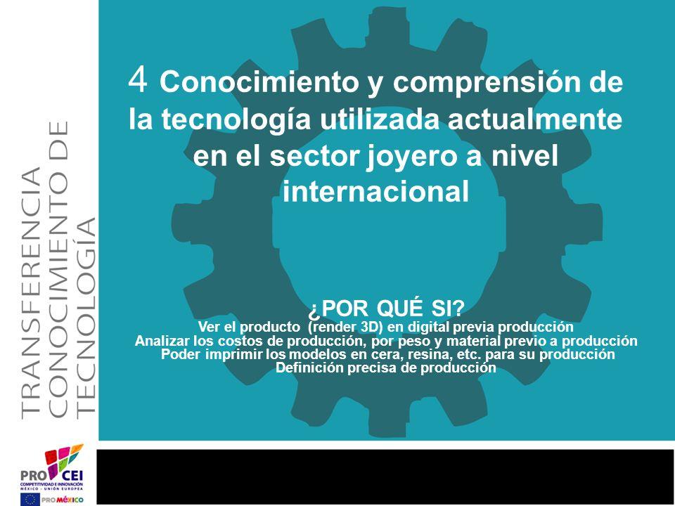 4 Conocimiento y comprensión de la tecnología utilizada actualmente en el sector joyero a nivel internacional ¿POR QUÉ SI? Ver el producto (render 3D)