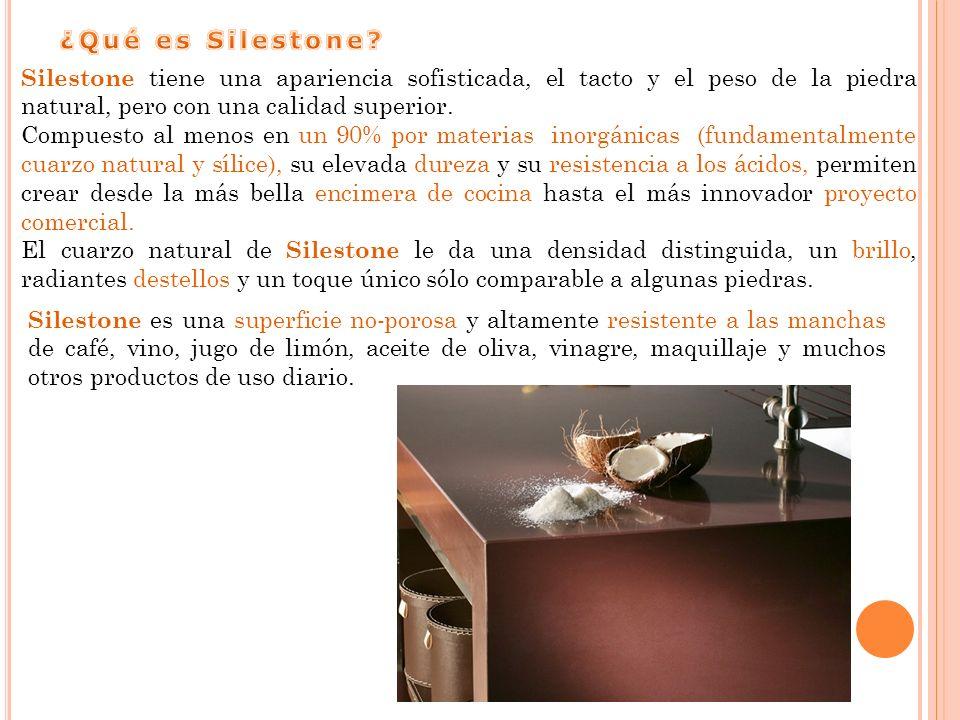 Silestone tiene una apariencia sofisticada, el tacto y el peso de la piedra natural, pero con una calidad superior.