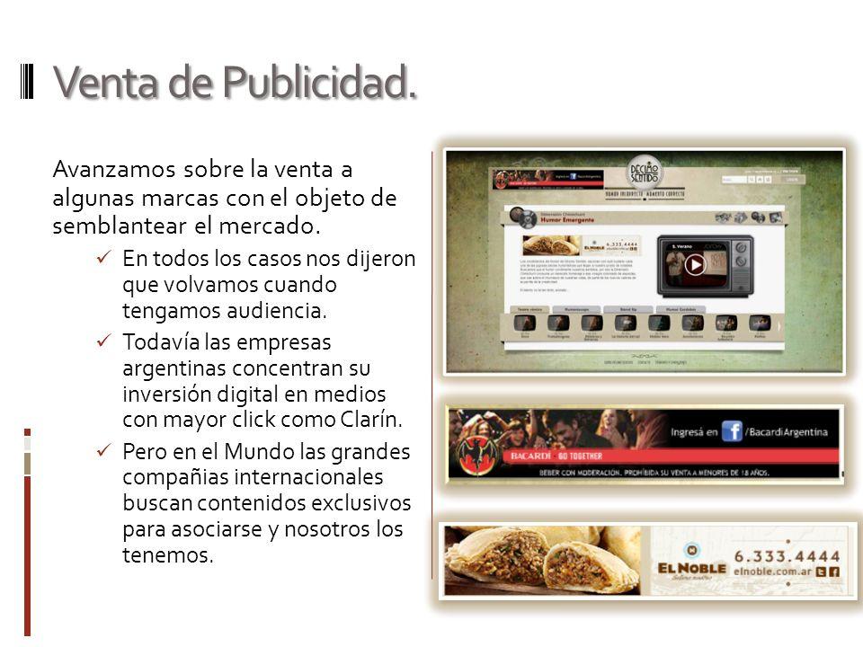 Venta de Publicidad.