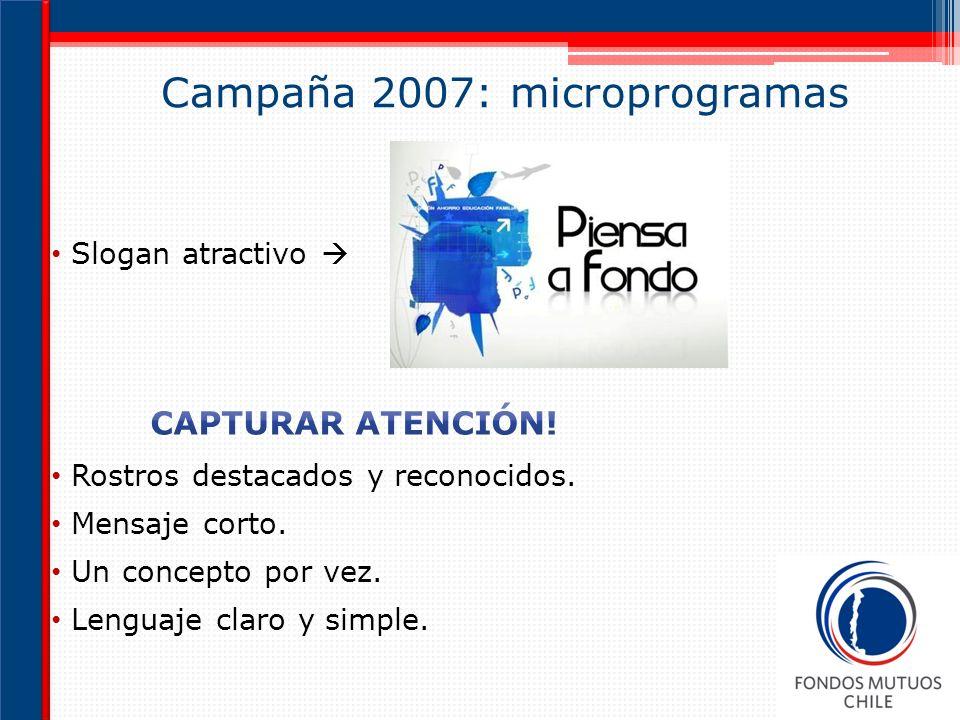 Campaña 2007: microprogramas