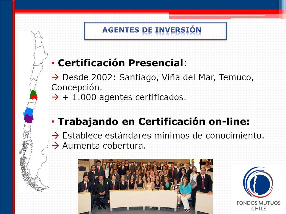 Certificación Presencial: Desde 2002: Santiago, Viña del Mar, Temuco, Concepción.