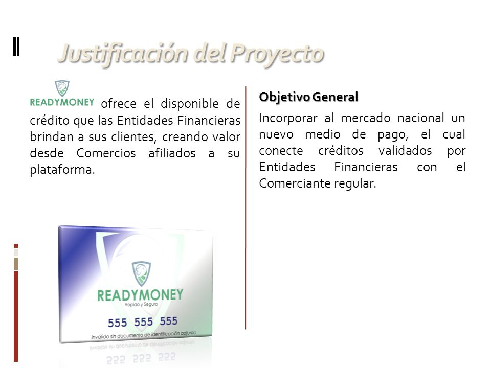 Esquema General ReadyMoney en la Nube de Internet