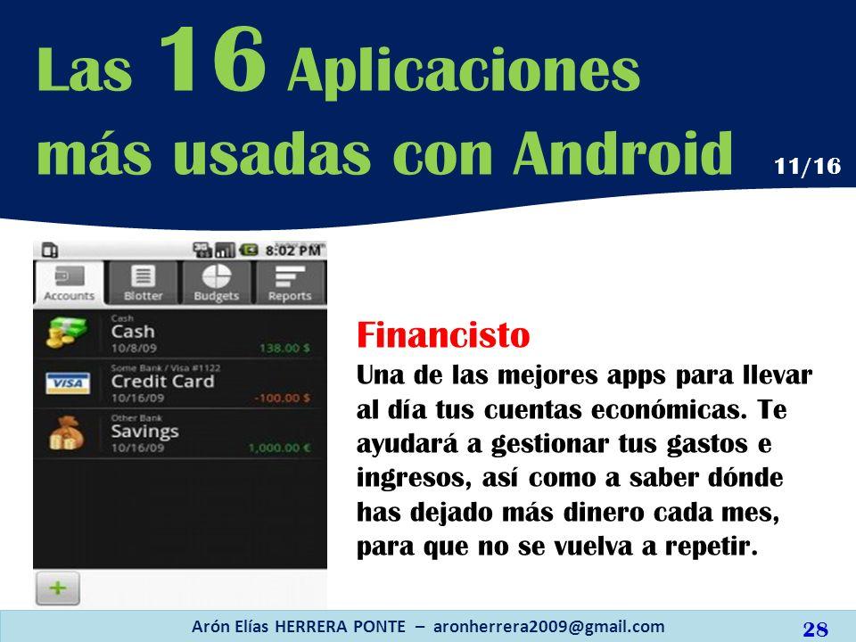 Financisto Una de las mejores apps para llevar al día tus cuentas económicas. Te ayudará a gestionar tus gastos e ingresos, así como a saber dónde has
