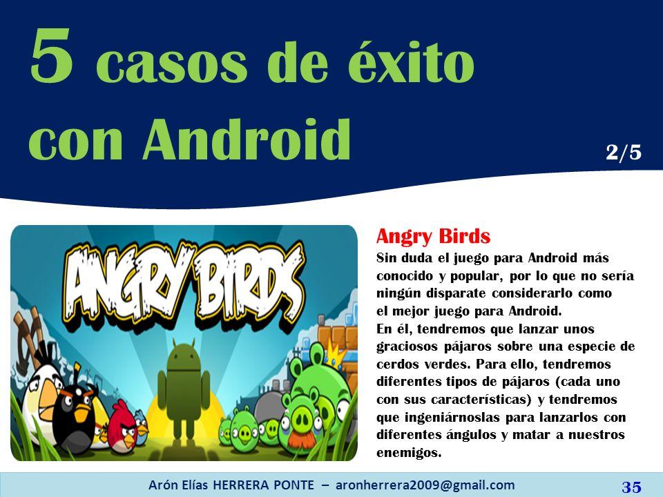 Angry Birds Sin duda el juego para Android más conocido y popular, por lo que no sería ningún disparate considerarlo como el mejor juego para Android.