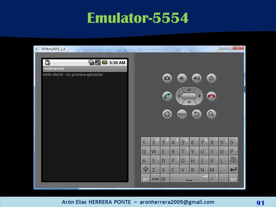 Emulator-5554 Arón Elías HERRERA PONTE – aronherrera2009@gmail.com 91