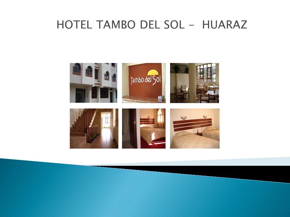 El hotel Tambo del Sol queda ubicado en la Calle Juan de la Cruz Romero 1075,distrito de Independencia,Urbanización Huarupampa,en Huaraz-Ancash.