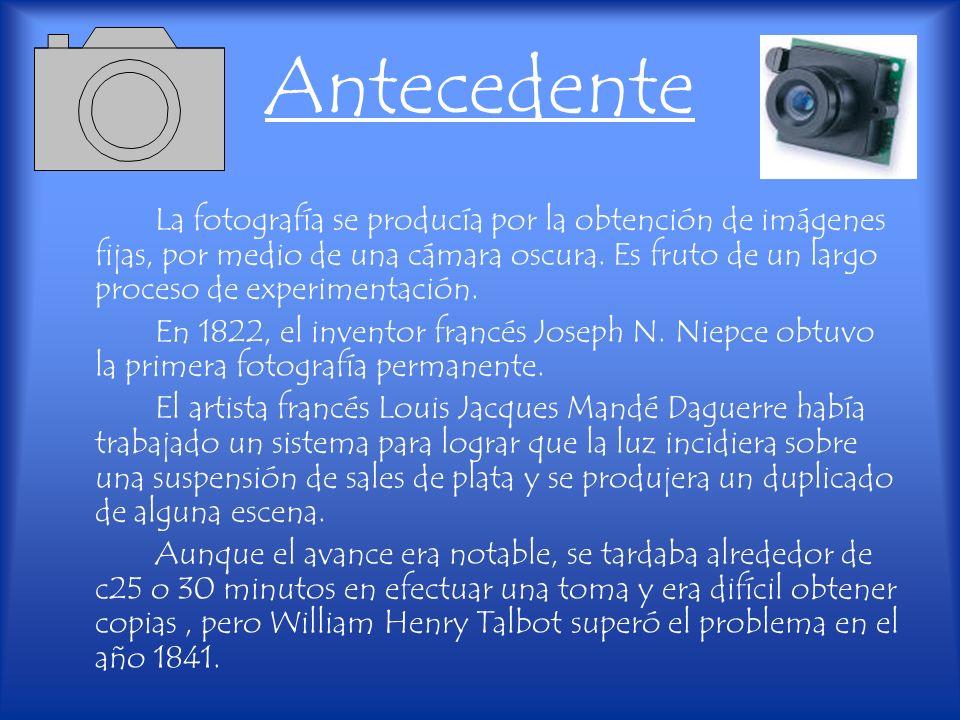 Historia de la cámara de video La cámara de video es una cámara de registro de imagen sobre soporte no fotográfico, generalmente magnético.