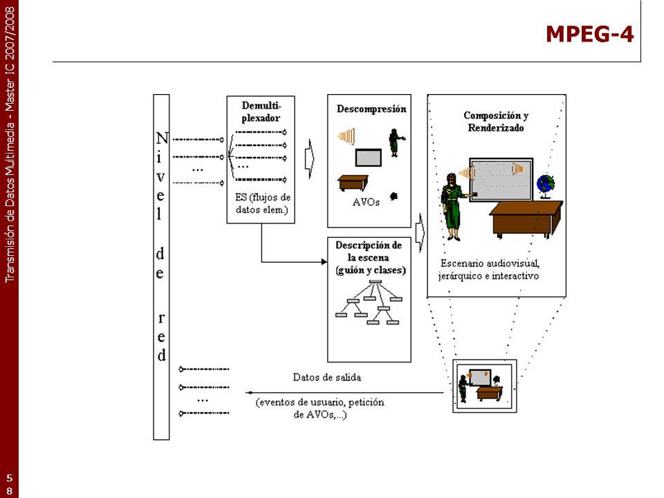Transmisión de Datos Multimedia - Master IC 2007/2008 MPEG-4 58
