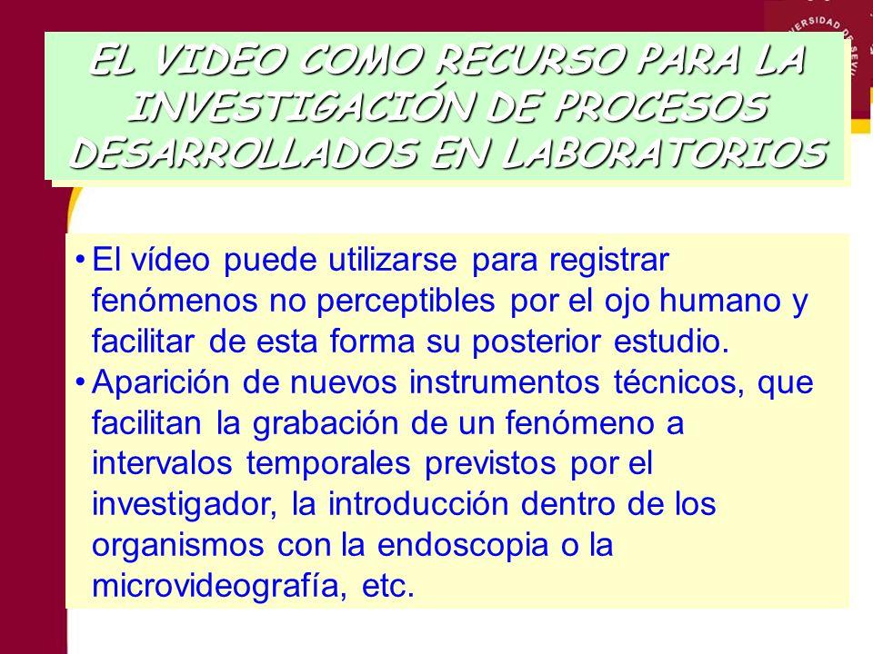 El vídeo puede utilizarse para registrar fenómenos no perceptibles por el ojo humano y facilitar de esta forma su posterior estudio. Aparición de nuev